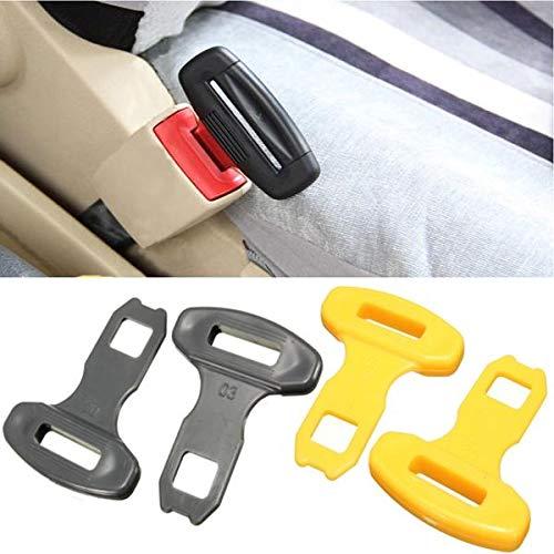 2Pcs Universal Car Safty Seat Belt Buckles Alarm Bleep Stopper Canceller Clip Yellow Black 2 X Car Safty Buckles Black Automobiles /& Motorcycles Interior Accessories