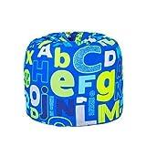 Alphabet Print Children's Ready Filled Fun Bean Bag Seat Kids Furniture