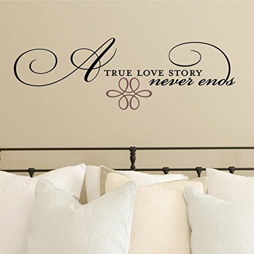 DCWV Home Wall Vinyl, A True Love Story Never Ends -
