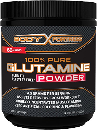 Body Fortress 100% Pure Glutamine Powder, 10.6 Ounce