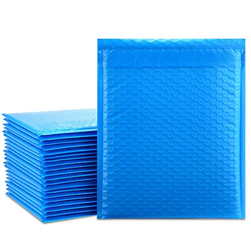 UCGOU 8.5x12 Inches Blue Poly Bubble Mailers Padded Envelopes Self Seal Mailing Envelopes Pack of 25