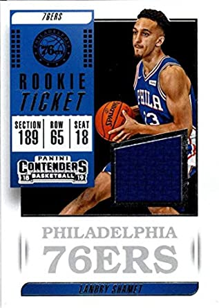 buy online 2b572 28bbb Amazon.com: 2018-19 Panini Contenders Rookie Ticket Swatch ...