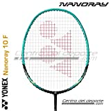 Yonex NANORAY Series Badminton Racket with a Half-Length Cover (NR10F-Black/Green)