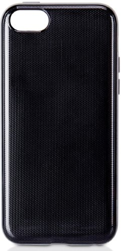 XtremeMac Microshield Accent for iPhone 5c Black Carbon Fiber with light grey border
