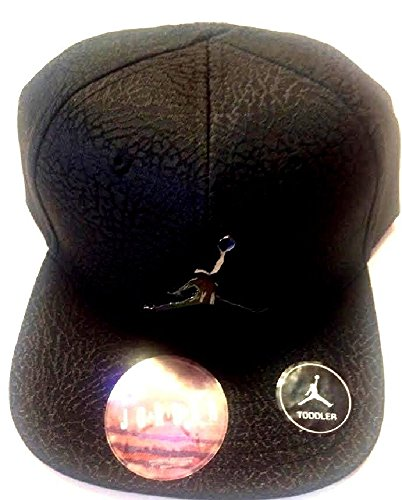 Air Jordan Jumpman Elephant Print Black Adjustable Boy's Cap 2/4T