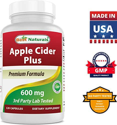 Best Naturals Apple Cider Vinegar Plus 500 Mg Capsules, 120 Count 7