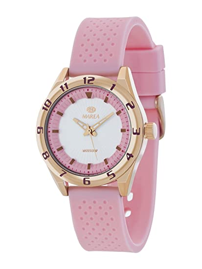 Reloj marea mujer caja ip rose correa silicona rosa b35257/1