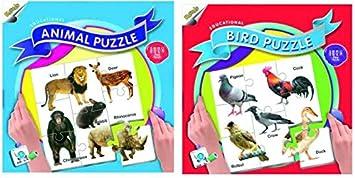 Ratnas Animal and Bird Puzzle (88 Pieces)
