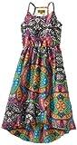 Nicole Miller Girls 7-16 Printed Faux Silk Dress, Snow White, Medium image