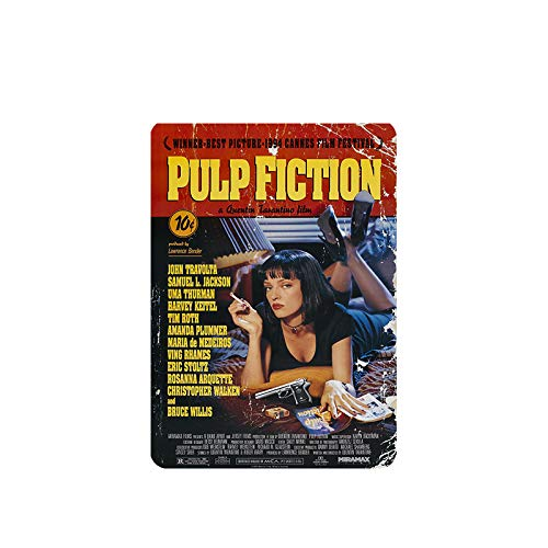Mora color Pulp Fiction tin Sign Vintage Metal Pub Club Cafe bar Home Wall Art Decoration Poster Retro 8x12 inches