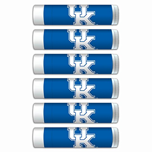 (NCAA Kentucky Wildcats Premium Lip Balm 6-Pack Featuring SPF 15, Beeswax, Coconut Oil, Aloe Vera, Vitamin E. NCAA Gifts for Men and Women, Mother's Day, Fathers Day, Easter, Stocking Stuffers)