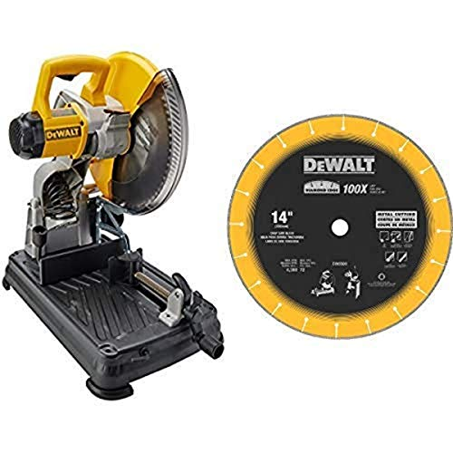 DEWALT DW872 14-Inch Multi-Cutter Saw with DEWALT DW8500 14-Inch by 1-Inch Diamond Edge Chop Saw Blade