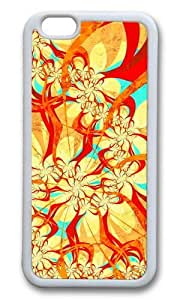 MOKSHOP Adorable abstract dance art multicolor patterns surface Soft Case Protective Shell Cell Phone Cover For Apple Iphone 6 (4.7 Inch) - TPU White