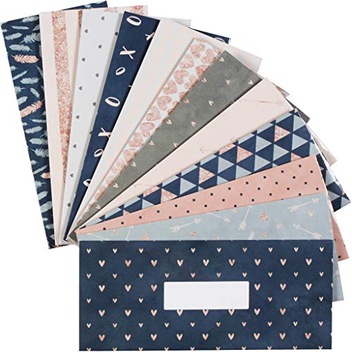 12 Budget Envelopes. Laminated Cash Envelope System for Cash Savings Plus 12 Budget - Laminated System