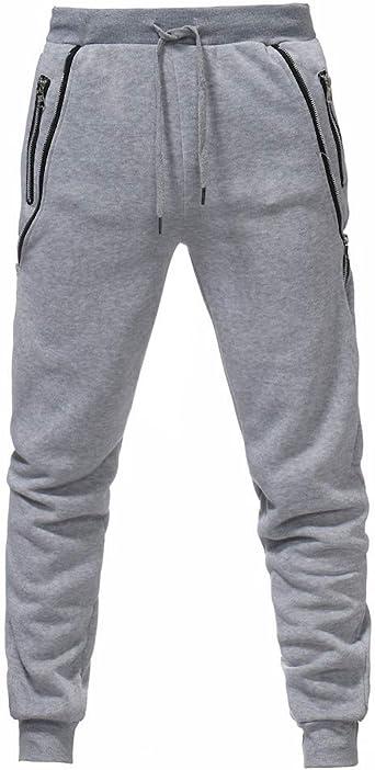 VPASS Pantalones para Hombre, Pantalones Moda Pop Casuales Chándal ...