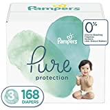 Diapers Size 3, 168 Count - Pampers Pure Protection Disposable Baby Diapers, Hypoallergenic and Unscented Protection, ONE Month Supply: more info