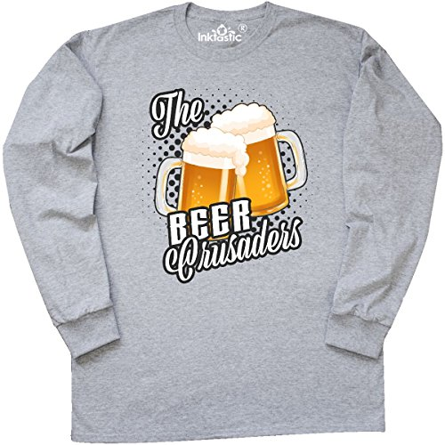 Crusader Long Sleeve - inktastic The Beer Crusaders with Long Sleeve T-Shirt X-Large Athletic Heather