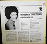 Connie Francis...the very best of...Connie's 15 Biggest Hits MGM Records Stereo release SE 4167 Easy Listening Vinyl (1963)