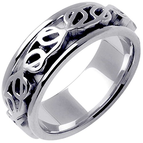 Platinum Celtic Love Knot Men's Comfort Fit Wedding Band (8mm) Size-13.5 by Wedding Rings Depot (Image #1)