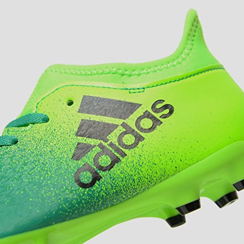 adidas X 16.3 Fg J, Botas de Fútbol para Niños Solar green-Core black