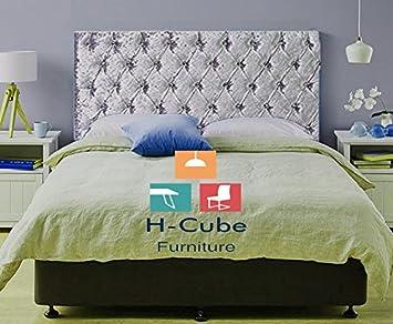 H Cube Furniture Buckingham Chesterfield Divan Bed Headboard Crushed