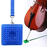 L'MS Silica Gel Cello Anti-slip Endpin Anchor Spike End Pin Rest Holder Floor Protector (Blue)