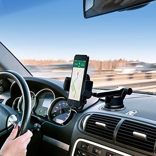 Supporto Auto Smartphone TaoTronics Porta Cellulare Auto con Pratico Utilizzo ad Una Mano Braccio Rotante a 180/°, Cuscinetto a Ventosa Lavabile e Super Aderente /– Non Lascia Segni o Tracce