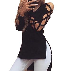 Vivoza mode femmes chemises tops sexy manchon creux Club casual chemise blouse