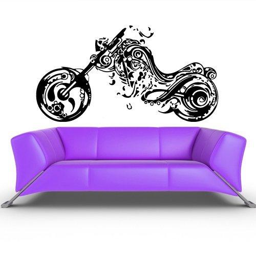 Wall Vinyl Sticker Decals Decor Art Bedroom Design Mural Tribal Bike Moto Motorcycle - Rockets Mural Houston