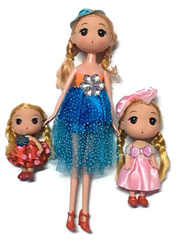 [EM-D4 Princess Dolls for Girls Cute and Beautiful Kids Gift Set of 3 pcs 3 sizes Fashions Inspired for Fun and] (Best Halloween Costumes Ever 2016)