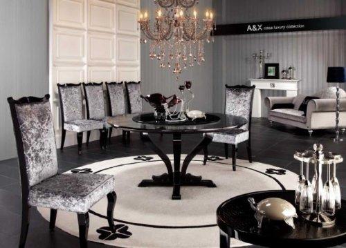 Vig Furniture Armani Xavira Round Crocodile Lacquer Table