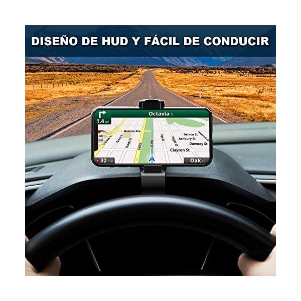 Modohe Soporte para Teléfono de Coche Montaje Móvil Universal Sujeta de Pinza Fuerte al Salpicadero para GPS Xiaomi…