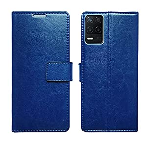 AD Enterprises Blue Flip Cover for Realme 8 5G