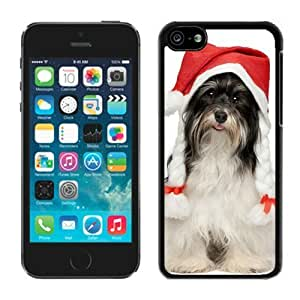 MMZ DIY PHONE CASE2014 New Style ipod touch 5 TPU Case Christmas Dog Black ipod touch 5 Case 40