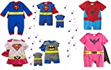 BABY BOY GIRL SUPERMAN BATMAN SUPERGIRL SPIDERMAN BATGIRL BABY GROW FUNKY CUTE FANCY DRESS OUTFIT COSTUME ROMPER SUIT GIFT