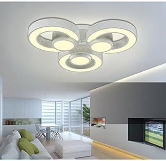 LED Deckenleuchte 2036 Mit Fernbedienung Lichtfarbe Helligkeit Einstellbar Acryl Schirm Weisslackierte Metallrahmen Durchbohrte Design