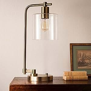 Amazon.com: Hudson Industrial Table Lamp - Antique Brass ...
