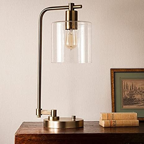 Amazon.com: Hudson Industrial Table Lamp - Antique Brass ...