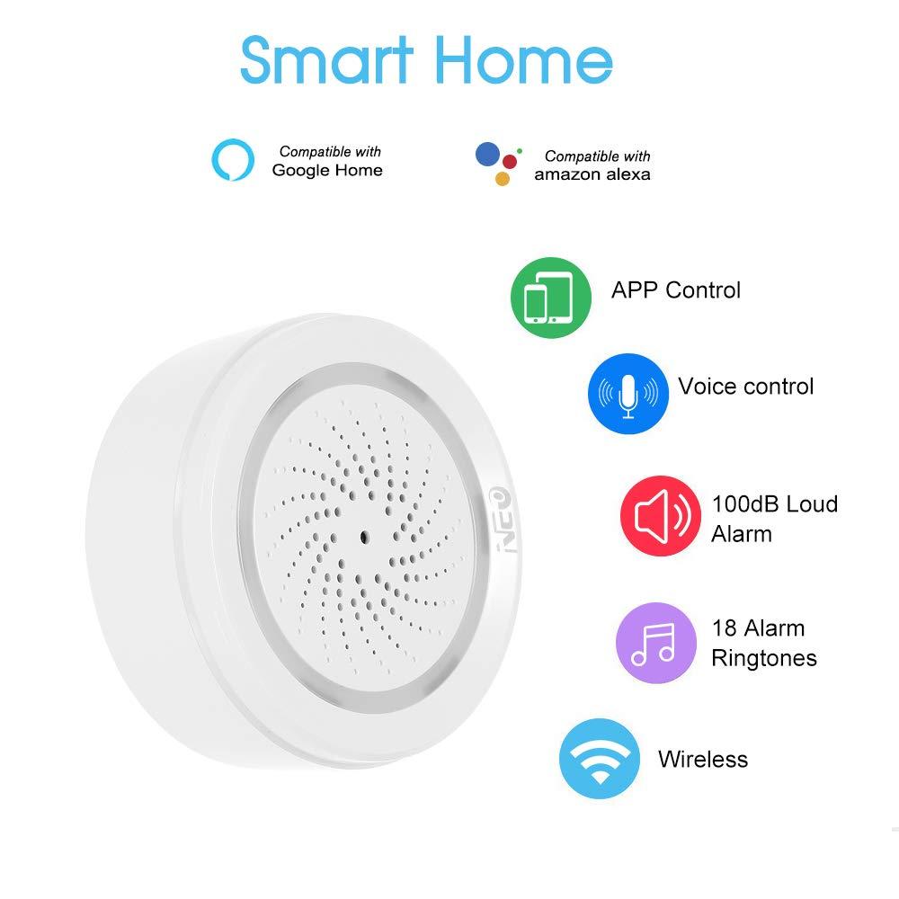 Neo Sensor de Alarma WiFi Tuya Smart Life App Compatible con ...