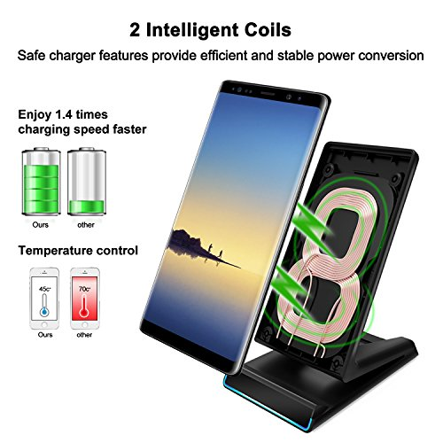 iphone x wireless charger qi fast charging pad stand for. Black Bedroom Furniture Sets. Home Design Ideas