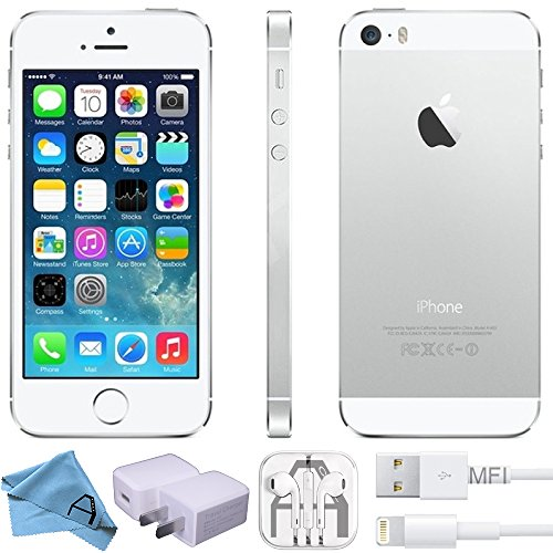 Apple iPhone 5S, GSM Unlocked, 16GB - Silver (Renewed)]()