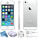 Apple iPhone 5S Factory 4G LTE Unlocked GSM Smartphone (Certified Refurbished) (Silver, 16GB)