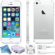 Apple iPhone 5S, GSM Unlocked, 16GB - Silver (Refurbished)