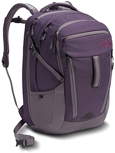 The North Face Women's Surge Laptop Backpack- Sale Colors (Dark Eggplant) (Custom S/s Womens Tee)