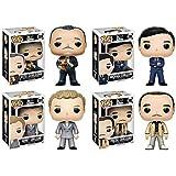 Funko POP! Movies: The Godfather Vito Corleone, Michael Corleone, Sonny Corleone, and Fredo Corleone - 4 POP BUNDLE