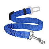 AUDICK Dog Seat Belt, Anti Shock Pet Car Safety Seatbelt Leads Harness with Bungee Buffer Fit All Car Seatbelt Buckle