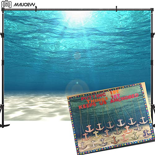 Maijoeyy 7x5ft Undersea Photography Backdrop Photo Background White Sand Backdrop for Picture Sun Ray Decoration Photography Props Children Baby Newborn Backdrop for Photography -