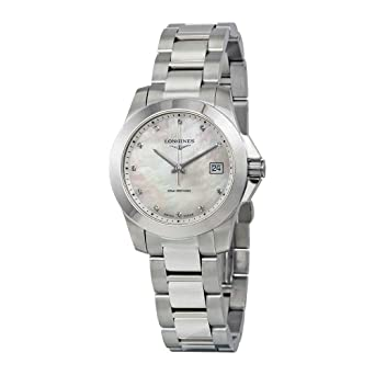 a551f616f Image Unavailable. Image not available for. Color: Longines Women's Swiss Conquest  Diamond Accent Stainless Steel Bracelet Watch 34mm L33774876