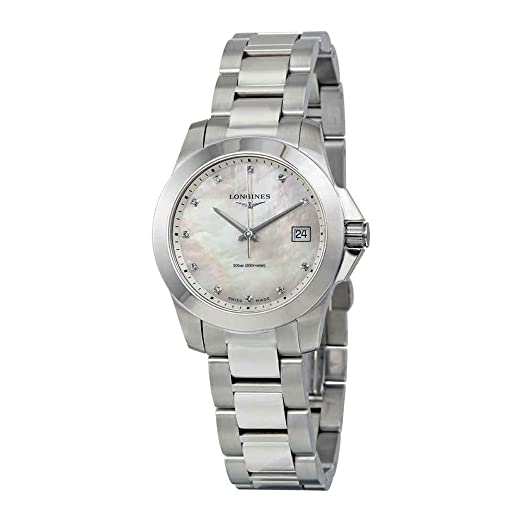 Longines Reloj de Mujer Cuarzo 34mm Correa de Acero Caja de L33774876: Amazon.es: Relojes