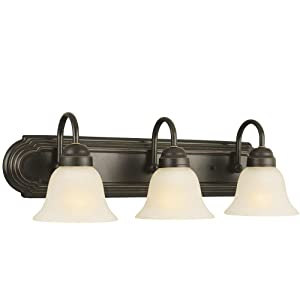 Design House 506618 Allante 3 Light Vanity Light, Oil Rubbed Bronze